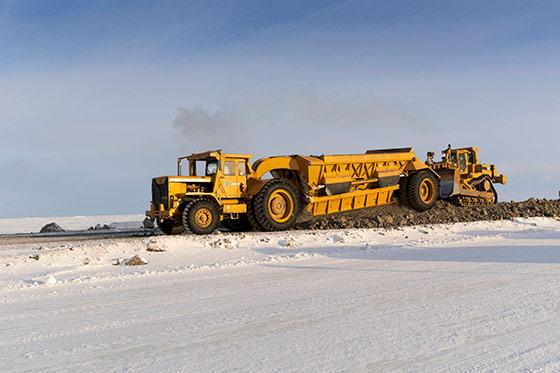Heavy equipment on North Slope