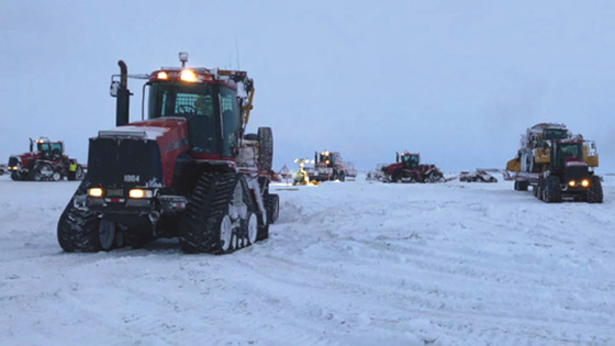 Tractors on North Slope